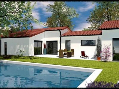 Maison de plain-pied contemporaine Palissandre – 150 m²