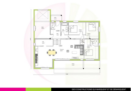Plan de maison contemporaine demi-niveau115m2 IPE