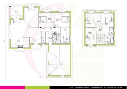 Plan maison à étage traditionnelle 147m2 AWOURA
