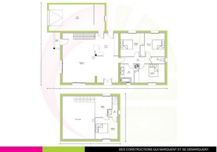 Plan maison contemporaine à étage 130m2 AGATHIS