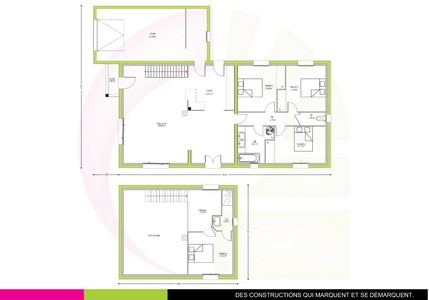 maison neuve tage agathis 130 m. Black Bedroom Furniture Sets. Home Design Ideas
