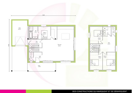 awesome plan maison tage m bilinga with plan de maison moderne a etage - Plan De Maison A Etage Moderne