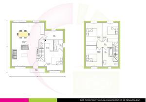 Plan maison individuelle à étage 108m2 MOVINGUI
