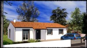 Maison classique de plain-pied Teck - 90 m²