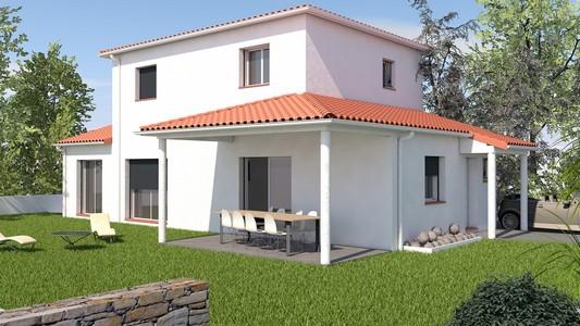 maison contemporaine à étage 123 m2 AZOBÉ