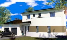 maison contemporaine a étage 143 m2 JATOBA