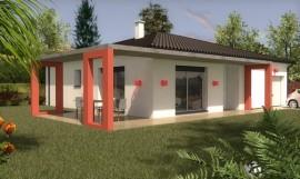 maison contemporaine de plain-pied 100 m2 KAMOTTE