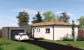 maison contemporaine de plain-pied 110 m2 EBIARA
