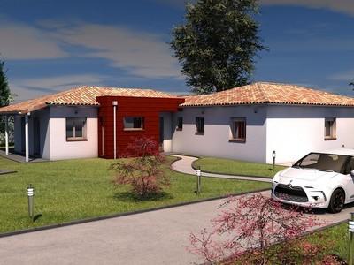 Maison contemporaine de plain-pied Mayapis – 146 m²
