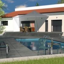Maison individuelle contemporaine demi-niveau Ipé – 115 m²