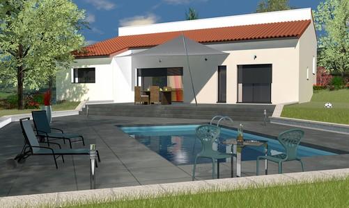 maison contemporaine demi niveau ip 115m. Black Bedroom Furniture Sets. Home Design Ideas