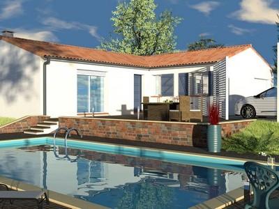Maison en «L» de plain-pied Tali – 95 m²