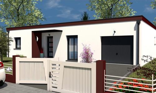 maison de plain-pied moderne 93 m2 SYCOMORE