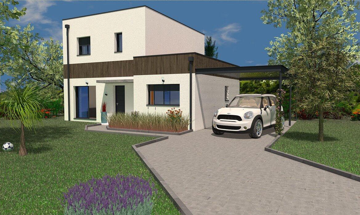 maison individuelle à étage 108 m2 MOVINGUI