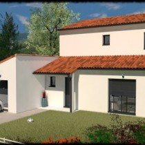Maison contemporaine à étage Ozigo – 132 m²