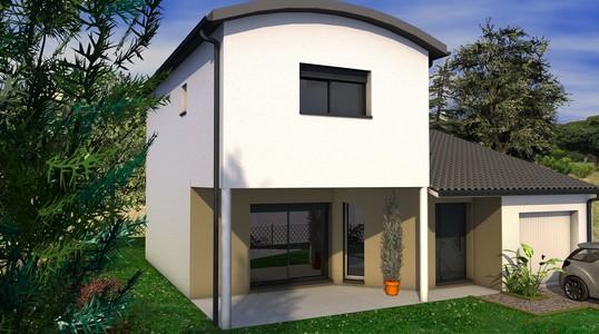 maison individuelle moderne a étage 101 m2 ORANGER