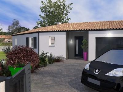 Maison de plain-pied en «V» Ossabel – 90 m²
