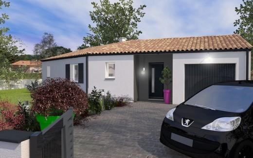 maison plain-pied 90 m2 OSSABEL