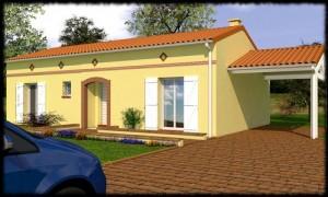 Maison toulousaine de plain-pied Bangkirai - 85 m²