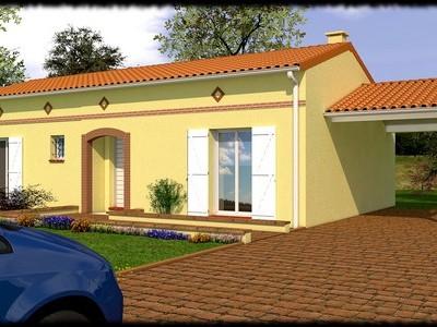 Maison toulousaine de plain-pied Bangkirai – 85 m²