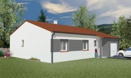 maison traditionnelle plain-pied 82 m2 ACAJOU
