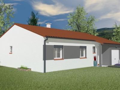 Maison traditionnelle de plain-pied Acajou – 82 m²