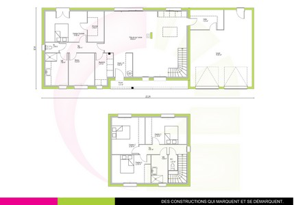 plan maison classique à étage 150 m2 BALSA