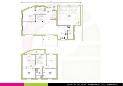 plan maison contemporaine a étage 143 m2 JATOBA