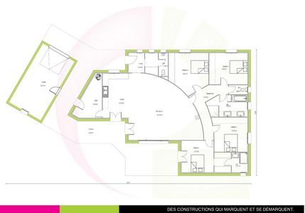 plan maison de plain-pied 166 m2 FRAMIRE