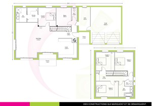 plan maison neuve a étage 154m2 MOABI