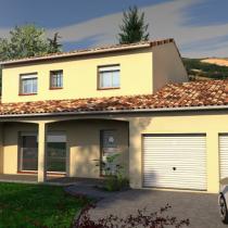 Maison individuelle contemporaine à étage Tamarinier – 140 m²