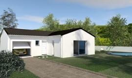 Maison de plain-pied en 'T' AMANOA 97 m2