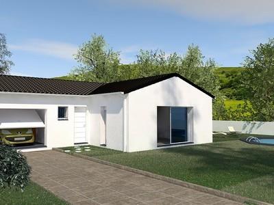 Maison individuelle de plain-pied en «T» Amanoa – 97 m²