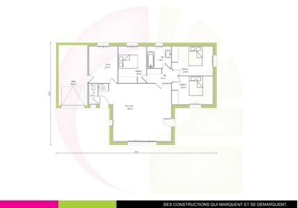 Maison individuelle de plein pied en t amanoa 97 m for Maison en forme de t