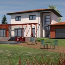 Maison contemporaine à étage Merbau – 168 m²