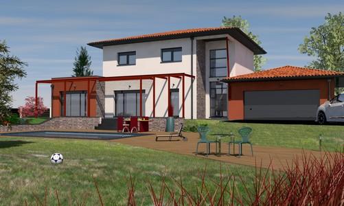 maison contemporaine à étage168 m2 MERBAU