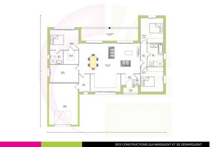 plan maison moderne de plain-pied 126 m2 COPAIBA