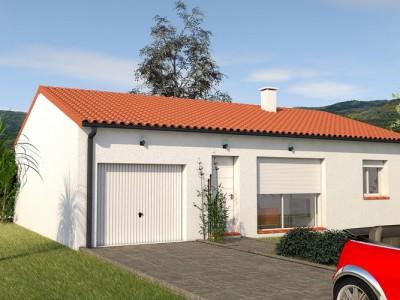 Maison classique de plain-pied BOCOTTE- 75 m²