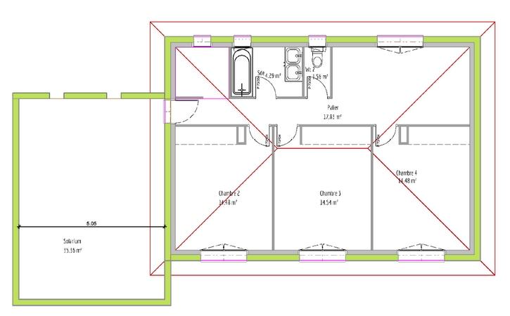 Maison neuve Corronsac plan etage