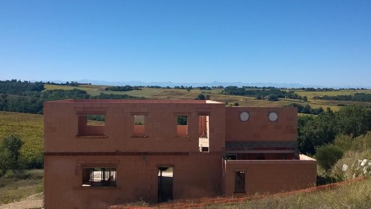 Maçonnerie maison Corronsac façade
