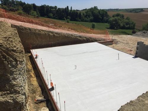 Plancher sous-sol construction Corronsac