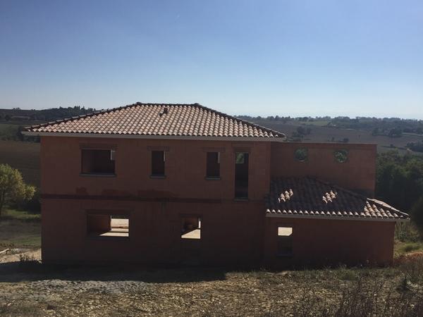 Toiture maison en construction CORRONSAC