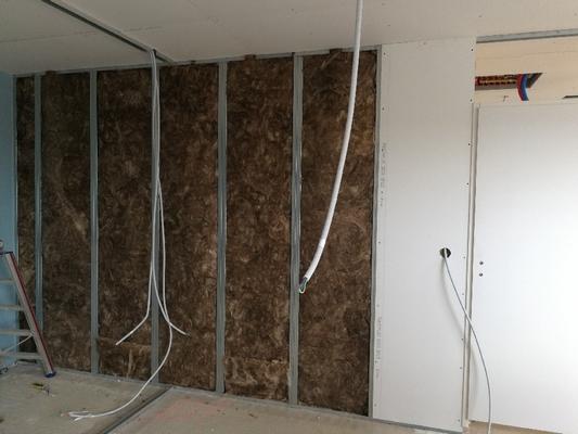 Isolation cloisons projet construction E3C2