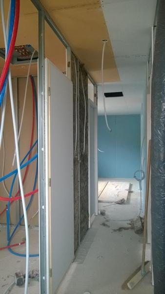Montage cloisons projet maison LBL Ramonville