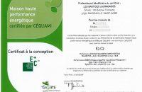 Certificat conception maison E3C2