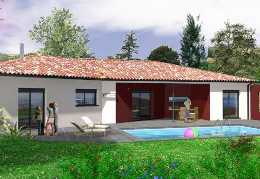 maison contemporaine 95 m2 de plain-pied