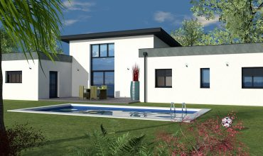 Maison contemporaine plain-pied T5