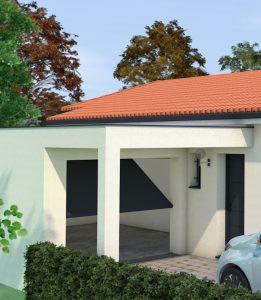garage avec casquette beton
