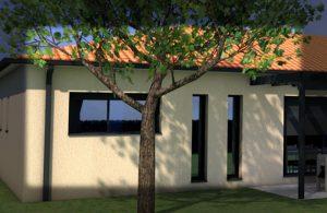 Ouverture fixe villa contemporaine