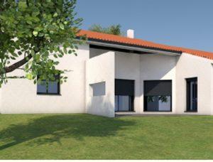 mur séparatif maison individuelle